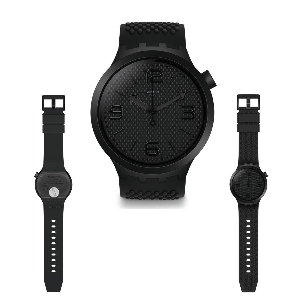 นาฬิกาผู้ชาย_Swatch BBBLACK SO27B100