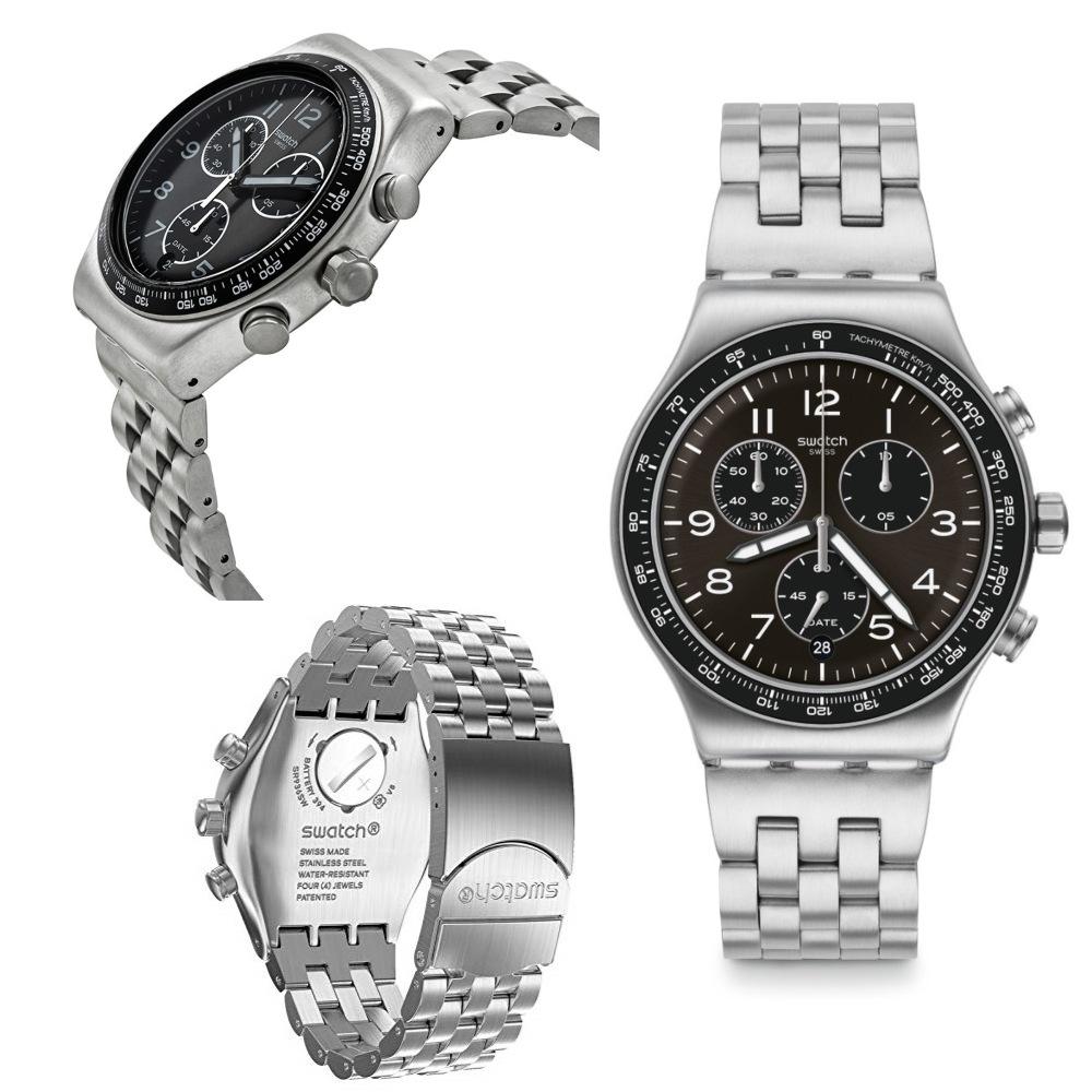 นาฬิกาผู้ชาย_Swatch DEEP GREY YVS465G