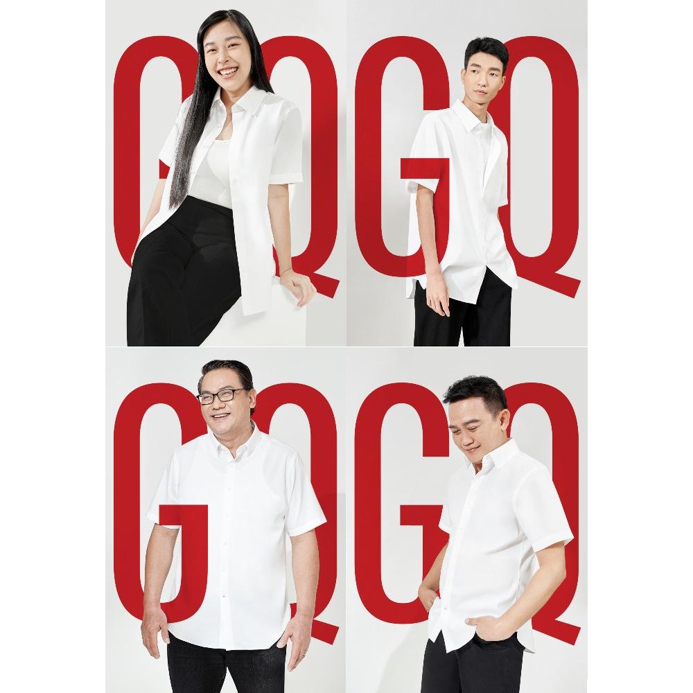 GQWhite™ เสื้อเชิ้ตขาวแขนสั้น