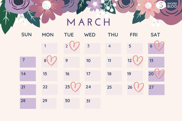 ฤกษ์แต่งงาน 2564 เดือนมีนาคม