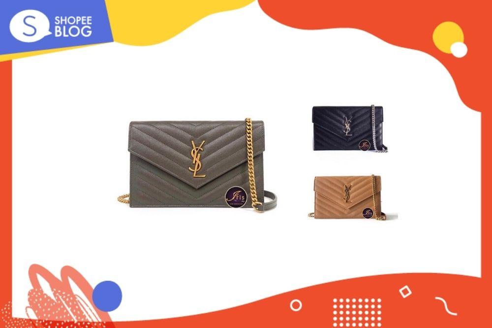 กระเป๋าแบรนด์ YSL Envelope WOC 7.5